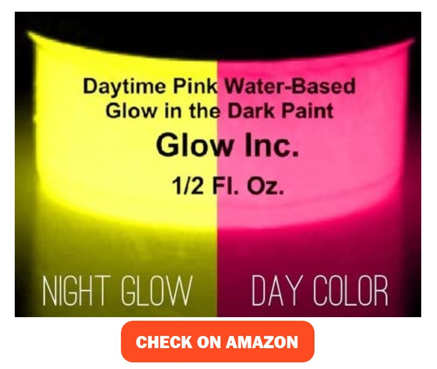 Glow Inc. Daytime Pink Glow in the Dark Water-Based Paint