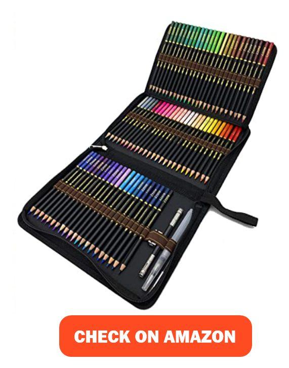 ZZWOND 72 Professional Watercolor Pencils Set