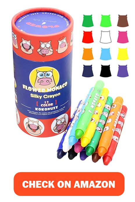 12 Colors Toddlers Crayons