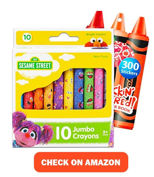 Sesame Street Elmo Ultimate Jumbo Crayon Set
