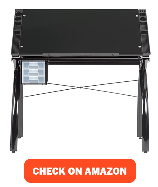 SD Studio Designs Drawing Table with Adjustable Top